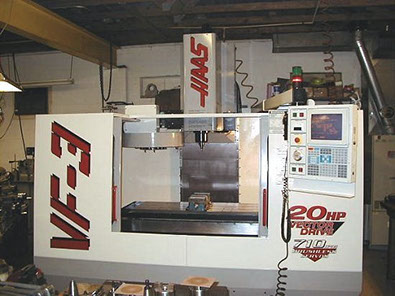 CNC Milling Machine Haas VF3 Mill with 4th Axis in our CNC Machine Shop