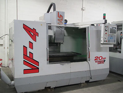 CNC Milling Machine Haas VF4 Mill with 4th Axis in our CNC Machine Shop
