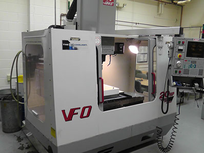 CNC Milling Machine Haas VF0 Mill with 4th Axis in our CNC Machine Shop